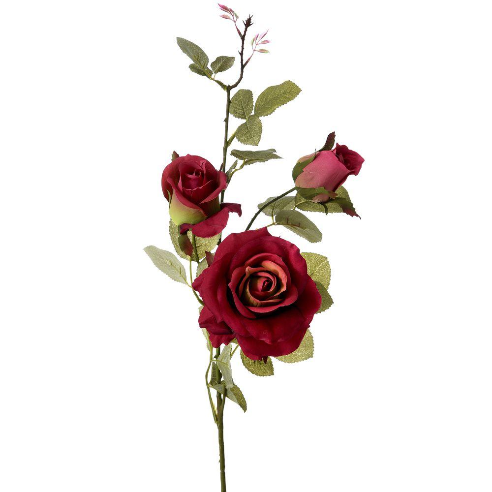 64177 CVET VEŠTAČKI RUŽA BORDO 75cm