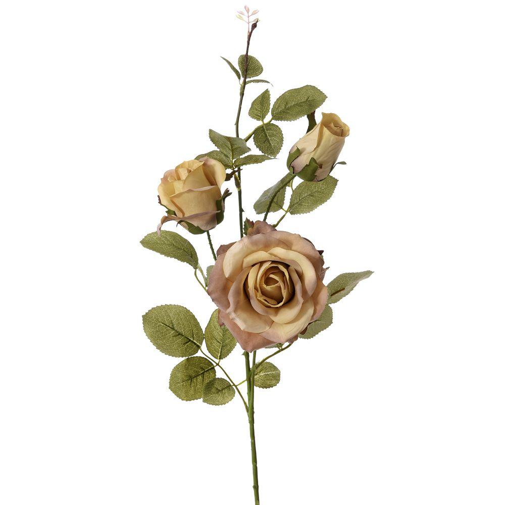 64178 CVET VEŠTAČKI RUŽA BRAON 75cm