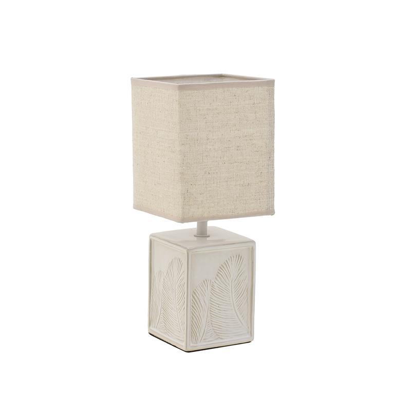 3158100012 LAMPA KERAMIČKA STONA KREM-BELA 13x23 cm