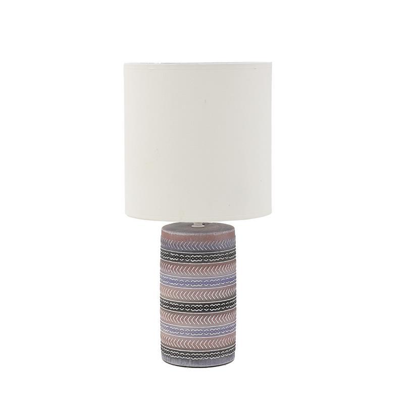 3158100008 LAMPA KERAMIČKA STONA MULTIKOLOR 22x45 cm