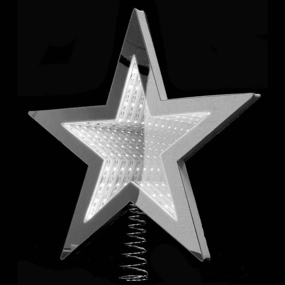 67329 Y NG SVETLEĆI 3D LED VRH ZA JELKU ZVEZDA BELA 25cm
