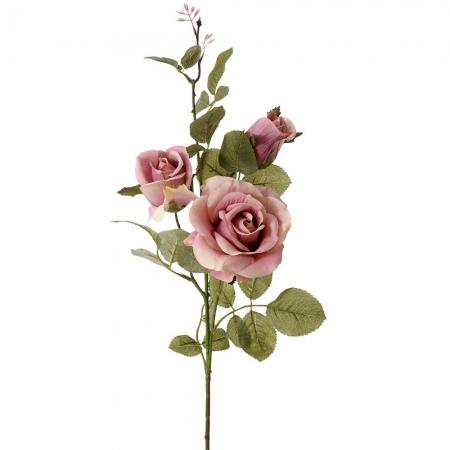 64176 CVET VEŠTAČKI RUŽA ROZE 75cm