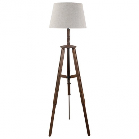 3157160103 DRVENA PODNA LAMPA SA PLATNENIM ABAŽUROM 40*150cm