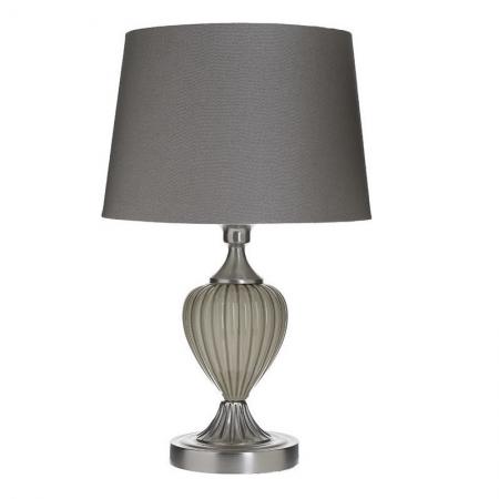 3155010029 LAMPA KERAMIČKA SIVA SA PLATNENIM ABAŽUROM