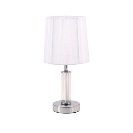 3156200013 LAMPA STONA METAL-STAKLO SREBRNO-BELA 16*16*34cm