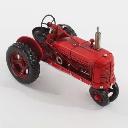 3707260140 METALNA FIGURA TRACTOR CRVENI 16*9.5*10cm