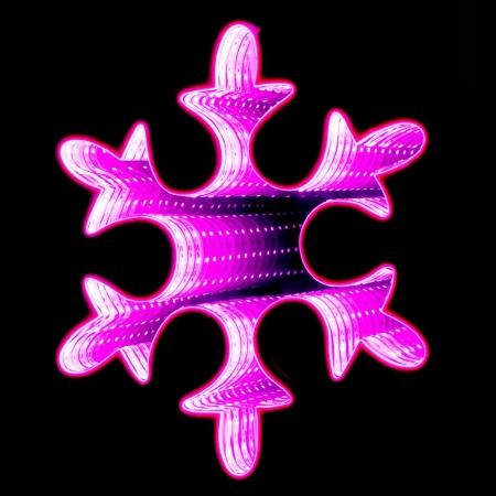 67335 Y NG SVETLEĆA 3D LED PAHULJA ROZE 30cm