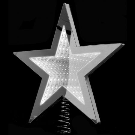 67326 Y NG SVETLEĆI 3D LED VRH ZA JELKU ZVEZDA BELA 20cm