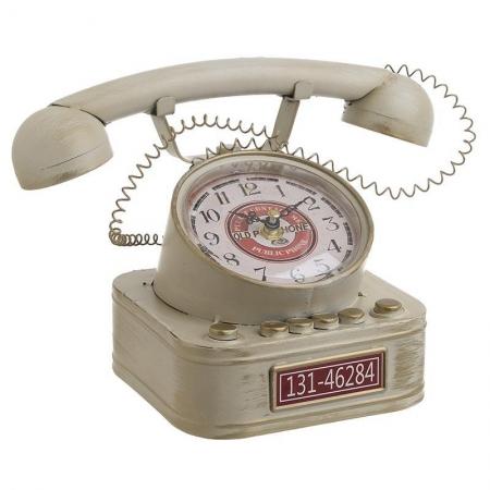3209770247 SAT STONI METALNI TELEFON BEŽ 26*16*17cm