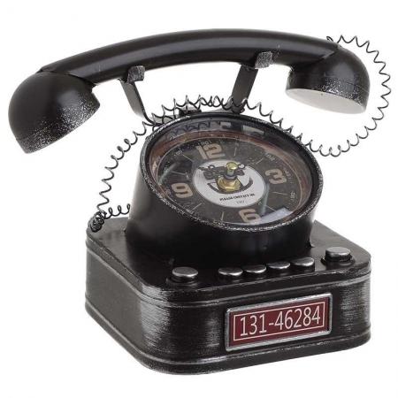 3209770246 SAT STONI METALNI TELEFON CRNI 26*16*17cm