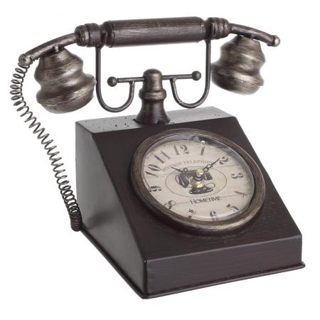 3209770205 SAT STONI U OBLIKU TELEFONA METALNI U BORDO-BRAON BOJI