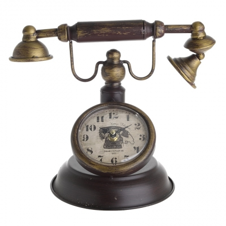 3209770204 SAT STONI U OBLIKU TELEFONA METALNI U BORDO-BRAON BOJI