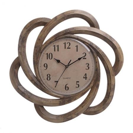 3202840096 SAT ZIDNI PLASTIČNI U ANTIK BEŽ-ZLATNOJ BOJI 40.5*3.5*40.5cm