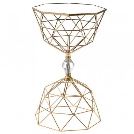 71996 *STOČIĆ METAL-STAKLO DIAMOND 35*35*60cm