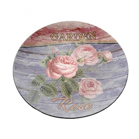 52805 TANJIR PLASTIČNI OSLIKANI DEZEN RUŽE 33cm